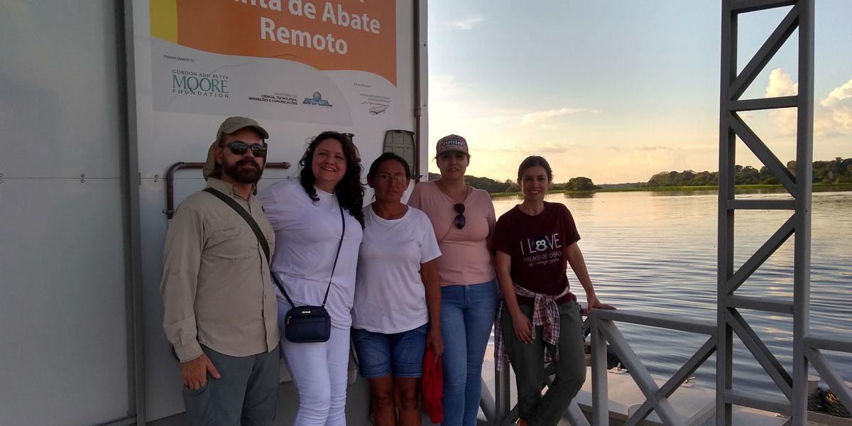 Equipe do MCTIC conhece projetos de tecnologias sociais na Reserva Mamirauá