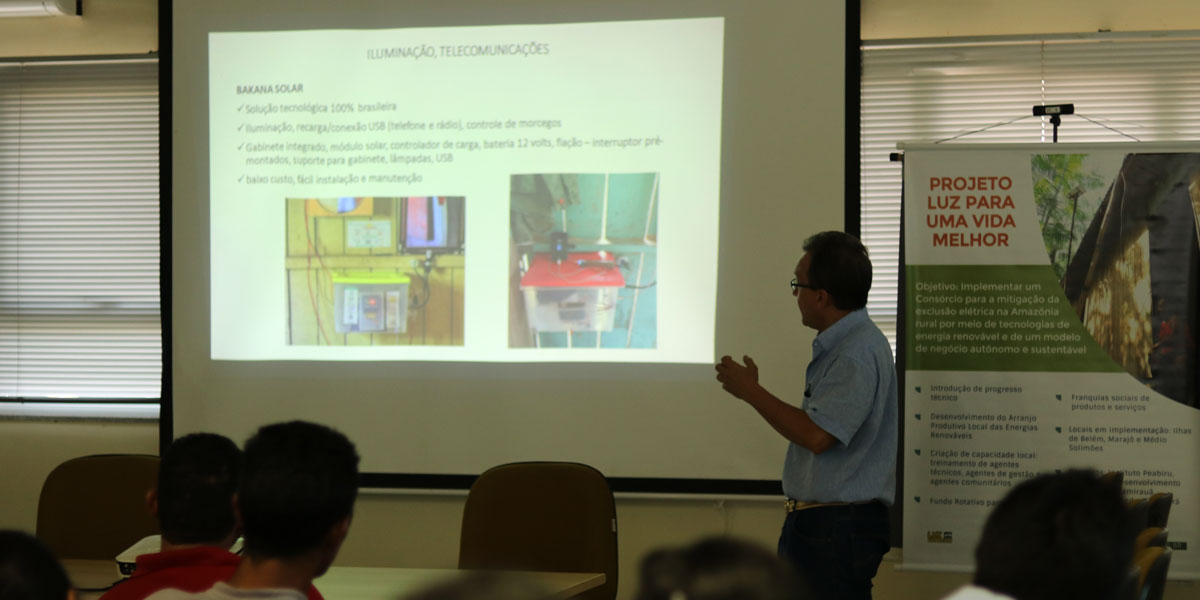 Kits de energia solar serão comercializados em comunidades isoladas na Amazônia Central